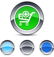 Add to cart round button vector