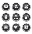 Black web buttons vector
