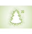 Christmas tree shape patchwork of qr codes vector