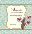 Damask floral invitation card vector
