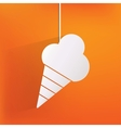 Ice cream web icon vector
