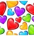 Heart candies pattern vector