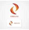 Abstract fire logo vector