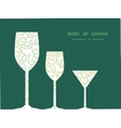 Curly doodle shapes three wine glasses vector
