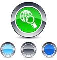 Global search round button vector