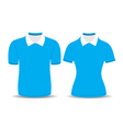 Blue polo shirt outline vector