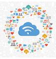 Cloud computing service circle vector