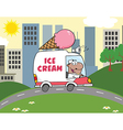 Cartoon ice cream truck vector