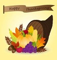 Thanksgiving cornucopia vector