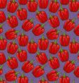 Seamless cute shiny bell pepper pattern vector