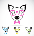 Pig glasses vector
