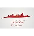 Little rock skyline in red vector