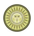 Medieval sun vector