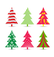 Set of christmas trees for design vector