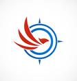 Eagle bird compass abstract logo vector