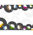 Vinyl music background vector