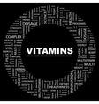 Vitamins vector