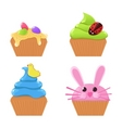 Easter cupcakes vector