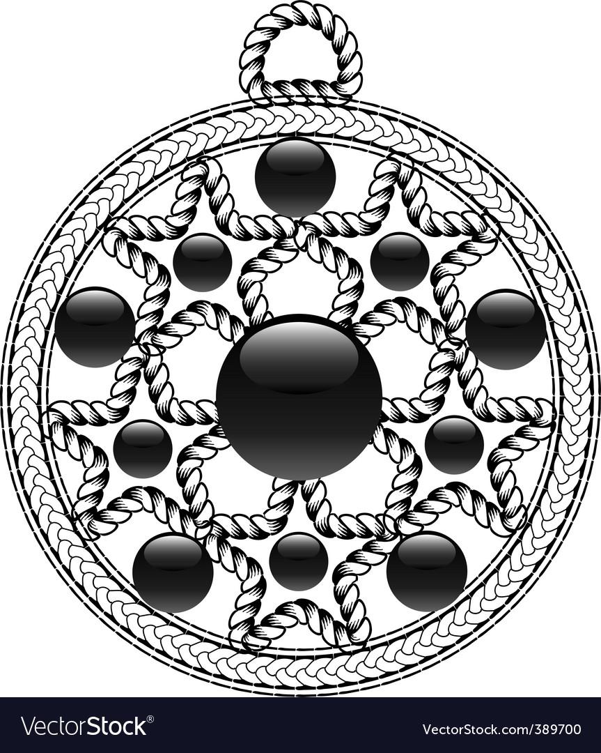 Algerian pendant vector | Price: 1 Credit (USD $1)