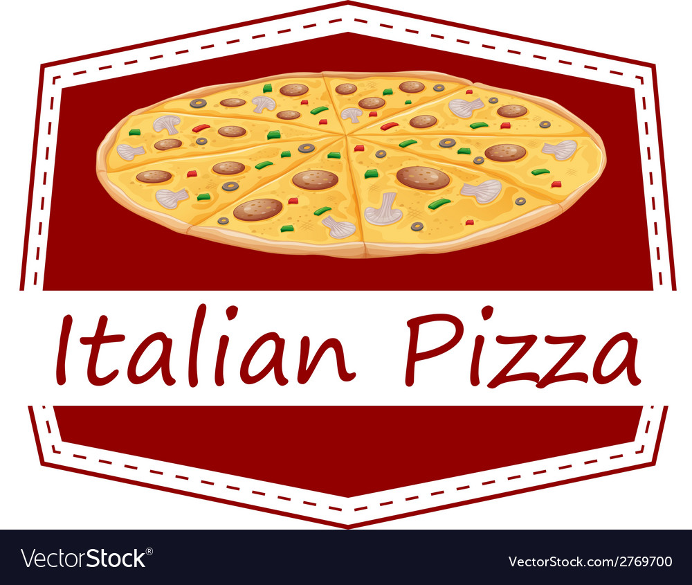 An italian pizza label vector | Price: 1 Credit (USD $1)
