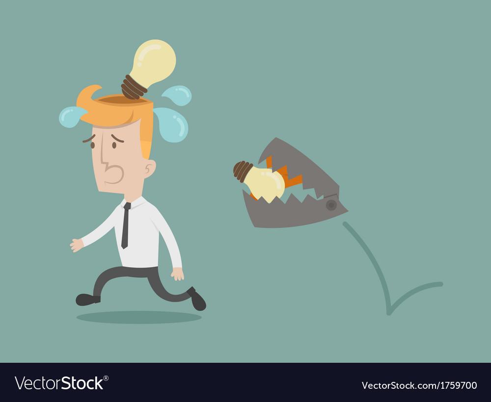 Business man lose idea vector | Price: 1 Credit (USD $1)
