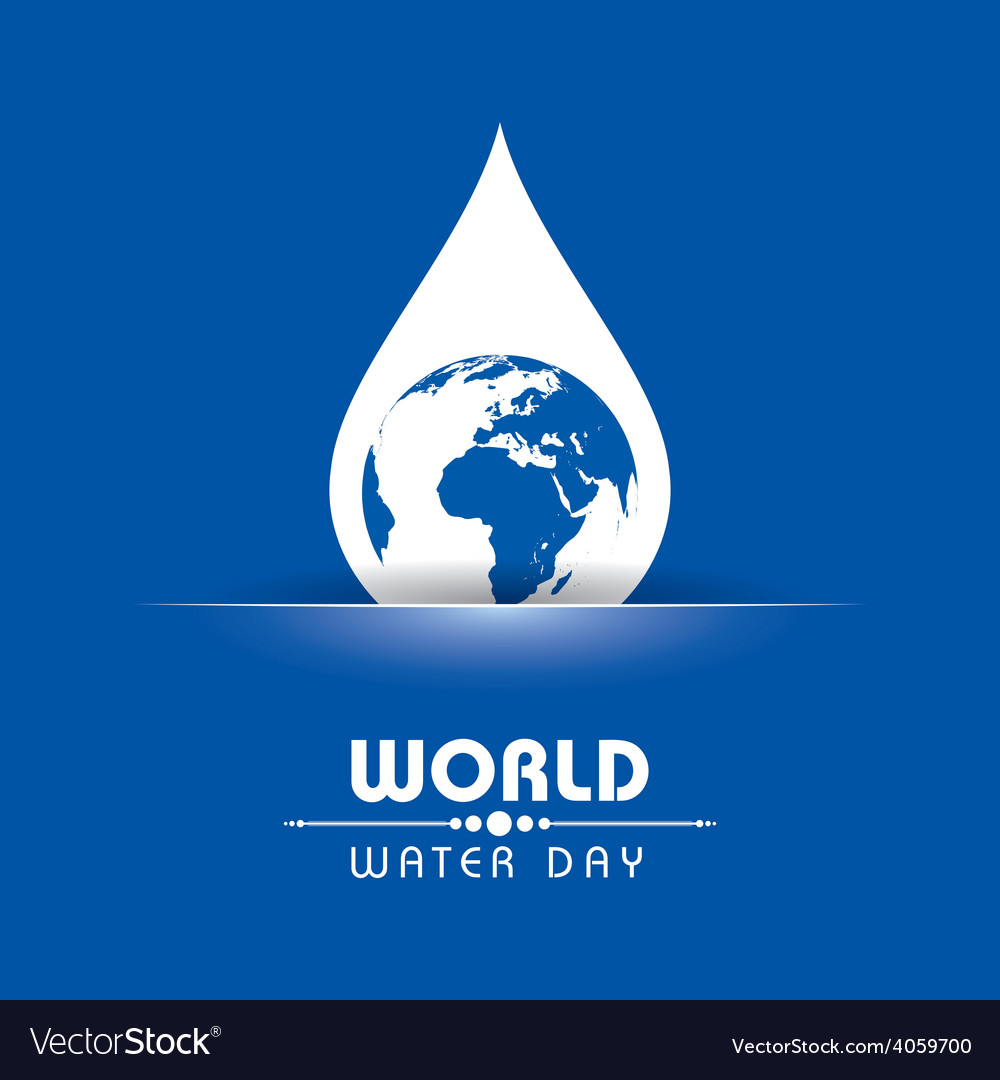 Creative world water day greeting vector   Price: 1 Credit (USD $1)