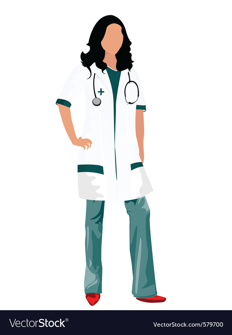 Female doctor vector | Price: 1 Credit (USD $1)
