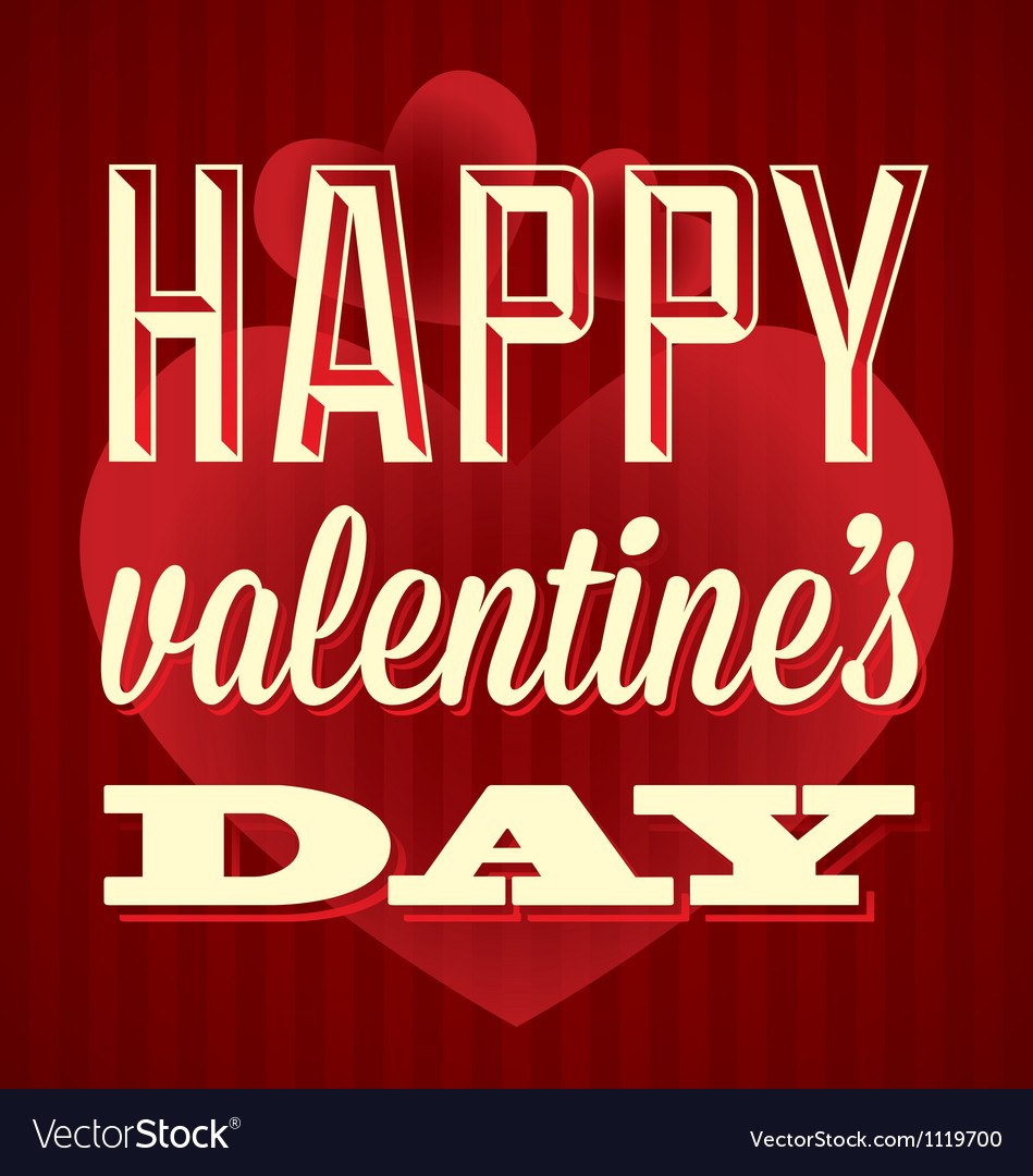 Happy valentines day card and wallpaper vector | Price: 1 Credit (USD $1)