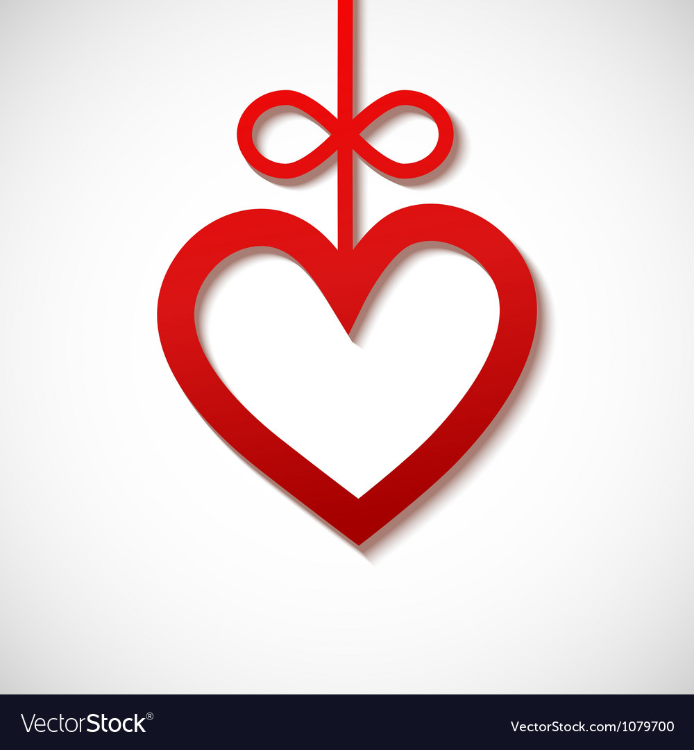 Heart sliced from red paper vector | Price: 1 Credit (USD $1)