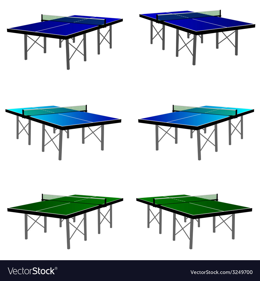 Ping pong table in three color vector | Price: 1 Credit (USD $1)
