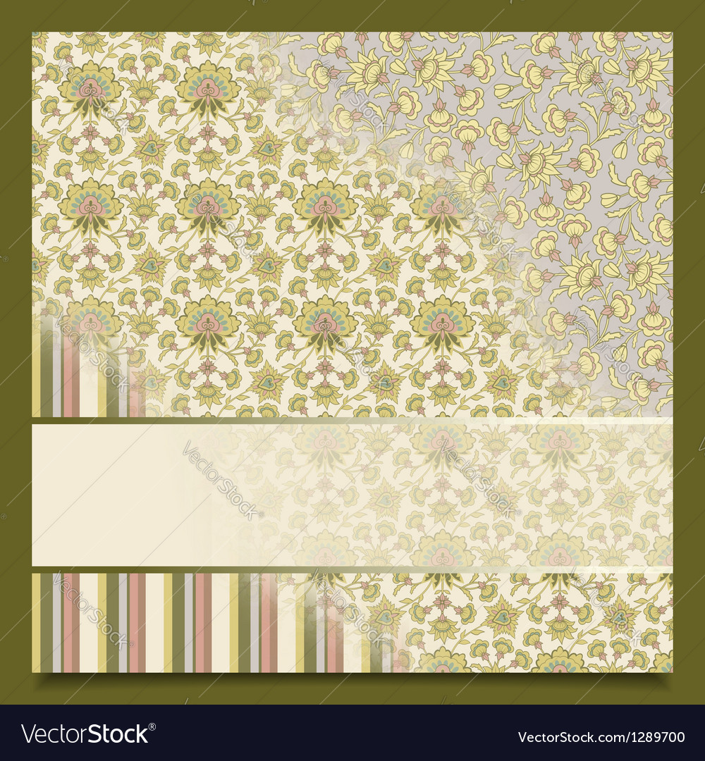 Vintage abstract retro background greeting card vector | Price: 1 Credit (USD $1)