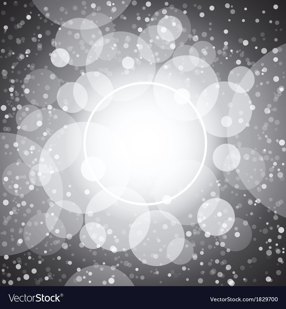 White shining circles and stars gray background vector | Price: 1 Credit (USD $1)