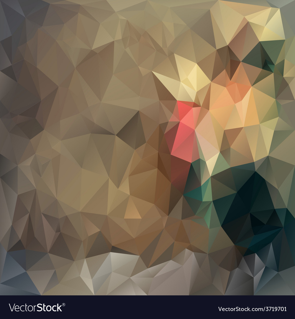 Brown beige polygonal triangular pattern vector | Price: 1 Credit (USD $1)