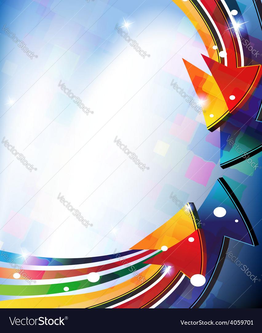 Colored arrows vector | Price: 1 Credit (USD $1)