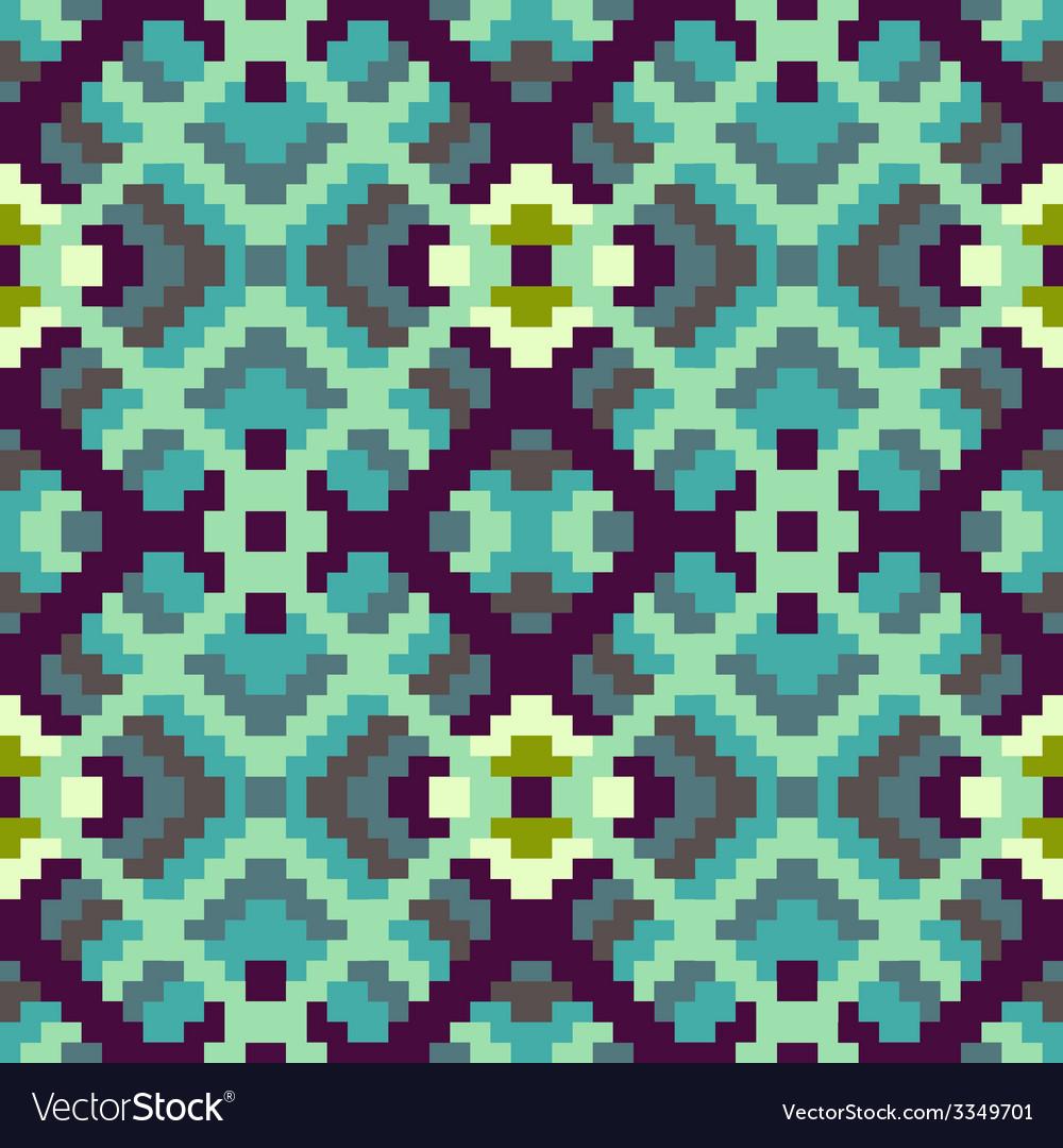 Ethnic geometric ornament pattern background vector | Price: 1 Credit (USD $1)