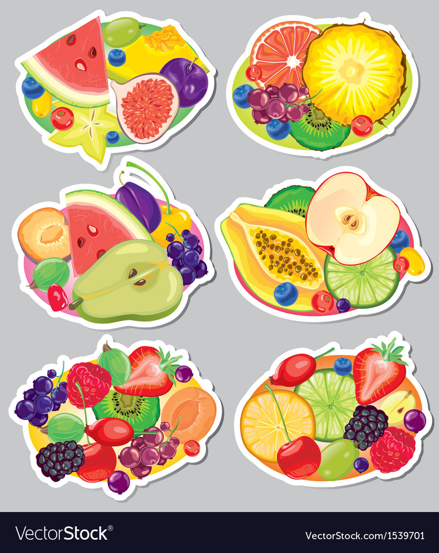 Fruit stickers vector | Price: 3 Credit (USD $3)