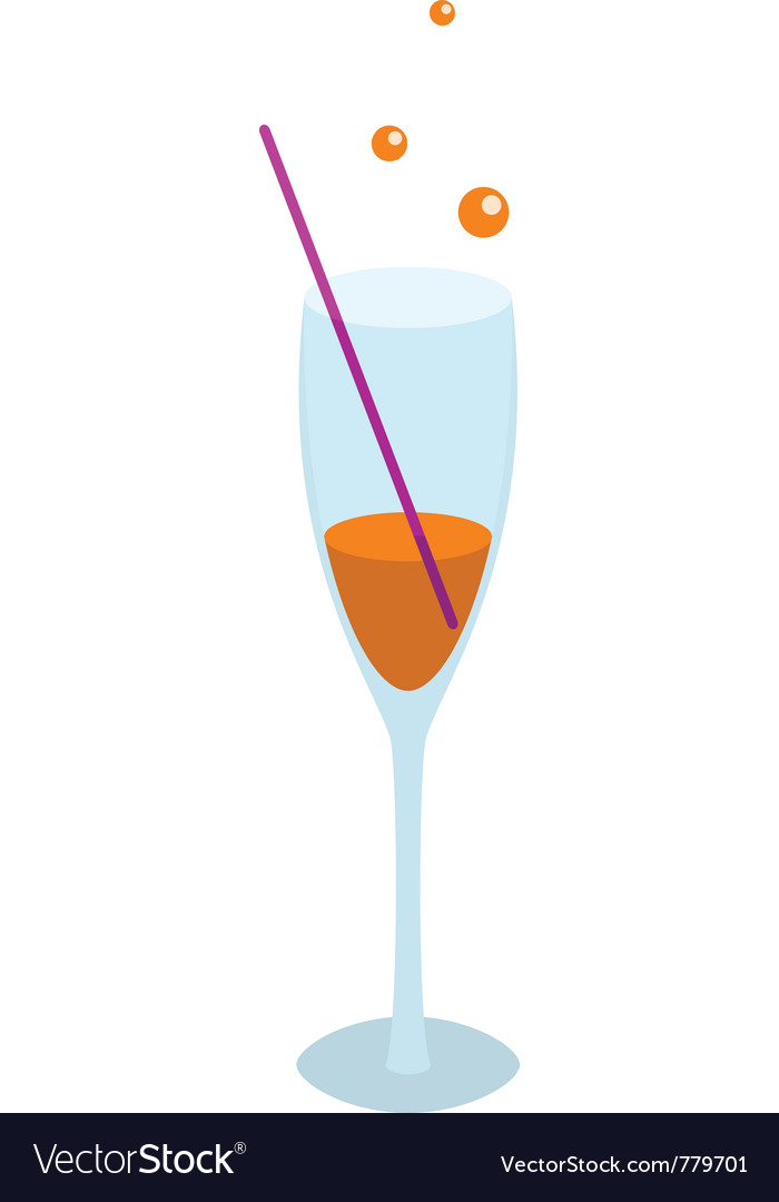 Glass of orange drink vector | Price: 1 Credit (USD $1)