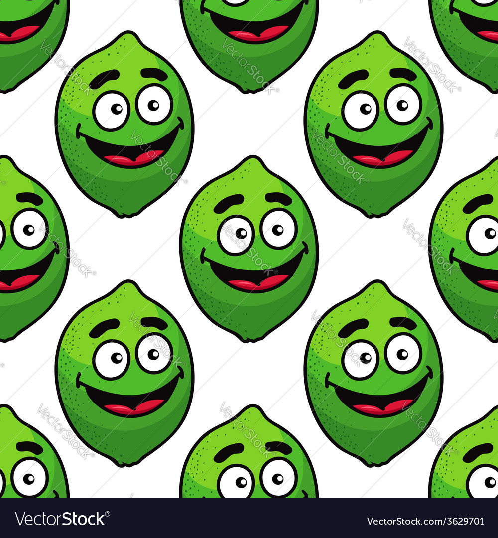 Green avocado fruit seamless pattern vector | Price: 1 Credit (USD $1)