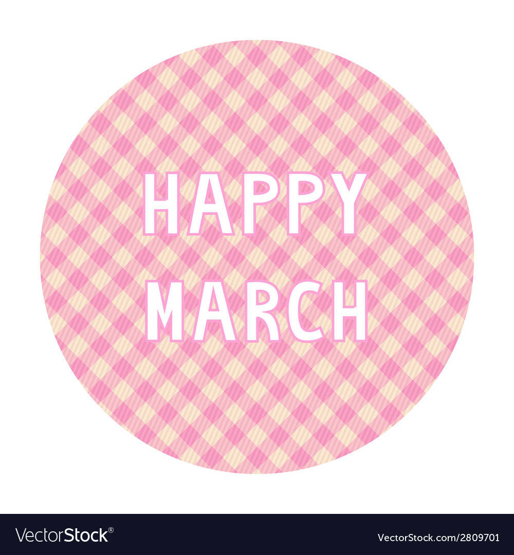 Happy march background4 vector | Price: 1 Credit (USD $1)