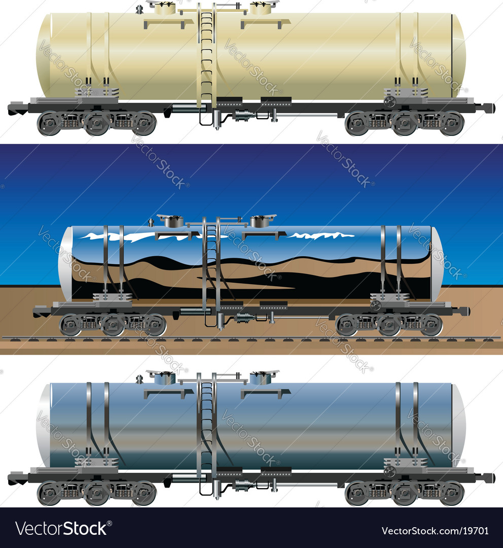 Oil gasoline tanker cars vector | Price: 5 Credit (USD $5)
