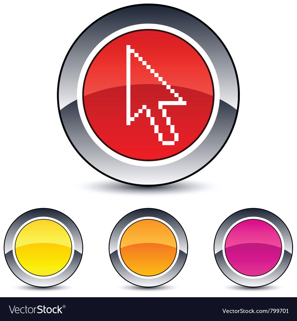 Pixel arrow round button vector | Price: 1 Credit (USD $1)