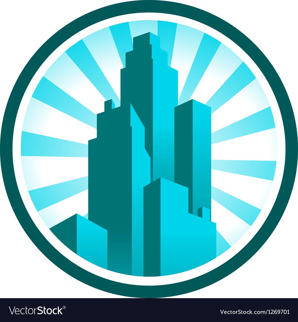 Skyscraper icon vector | Price: 1 Credit (USD $1)