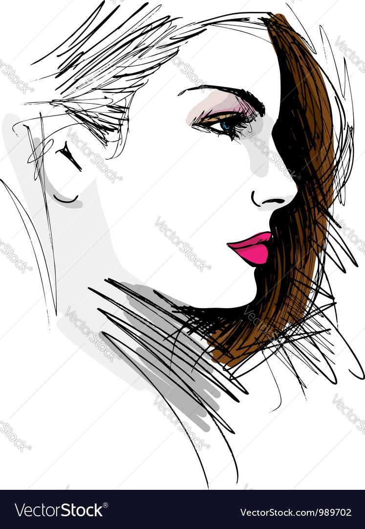 Beautiful woman face vector | Price: 3 Credit (USD $3)