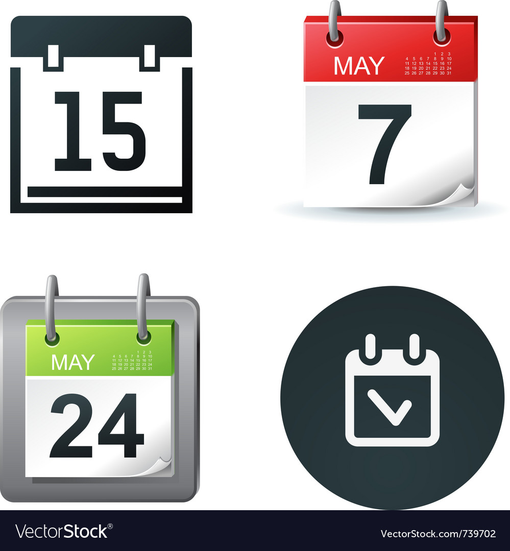 Calendar icons vector | Price: 3 Credit (USD $3)