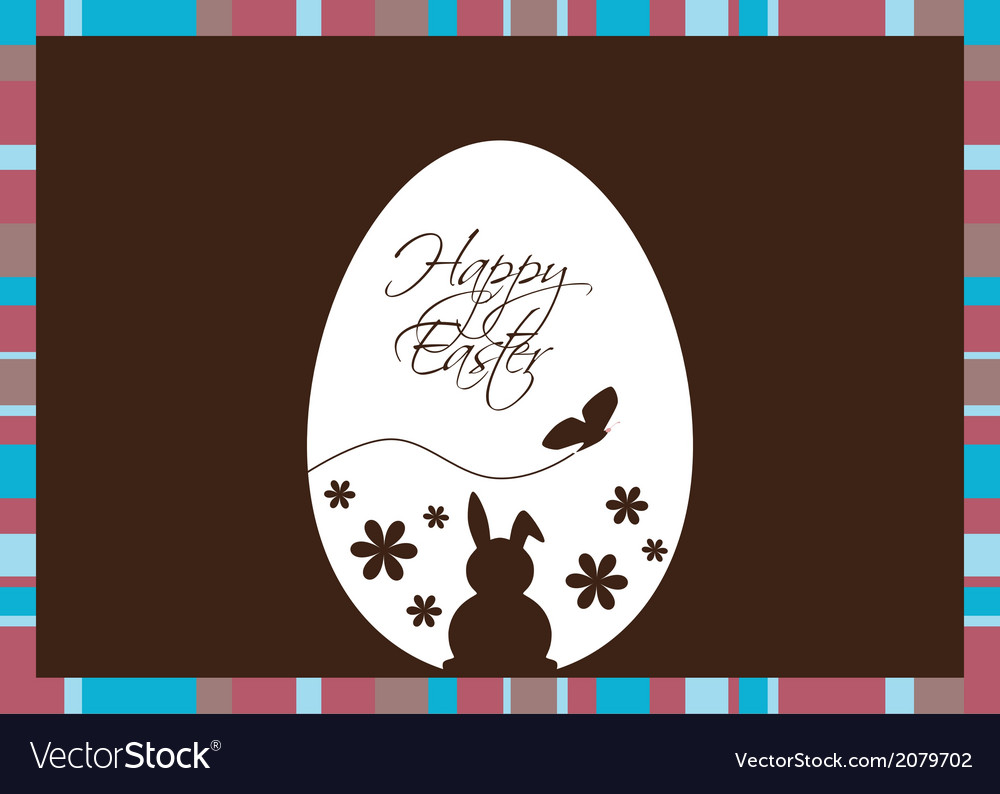 Easter egg on a brown background vector | Price: 1 Credit (USD $1)
