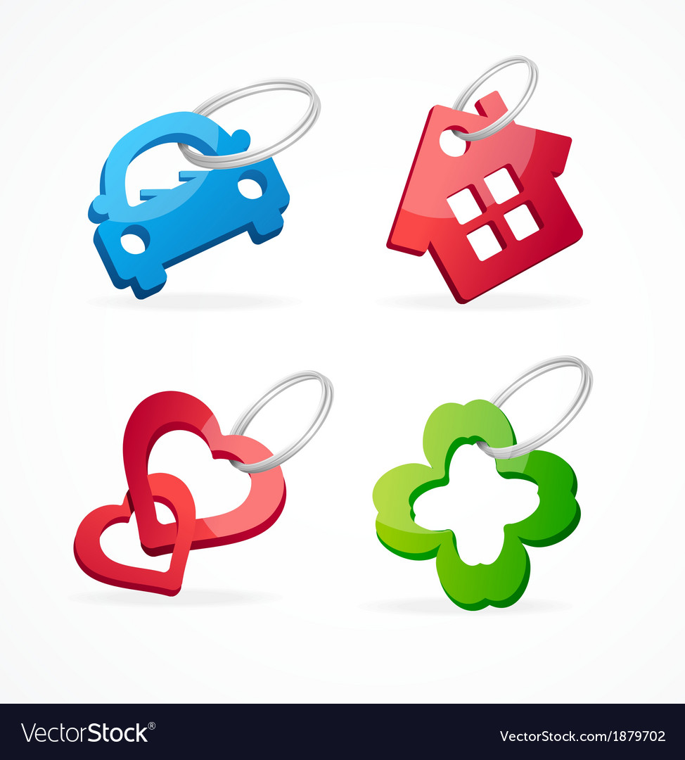 Key chain collection and rings vector | Price: 1 Credit (USD $1)