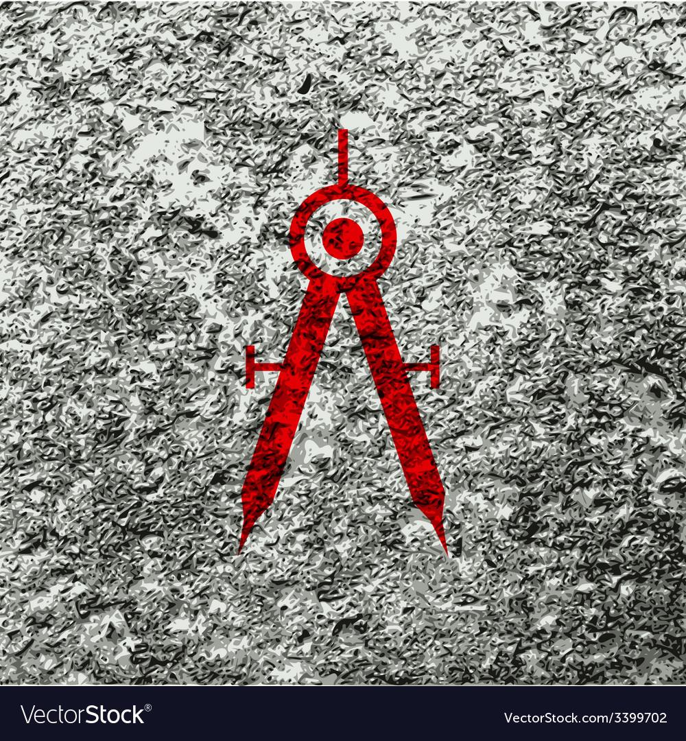 Mathematical compass icon symbol flat modern web vector | Price: 1 Credit (USD $1)