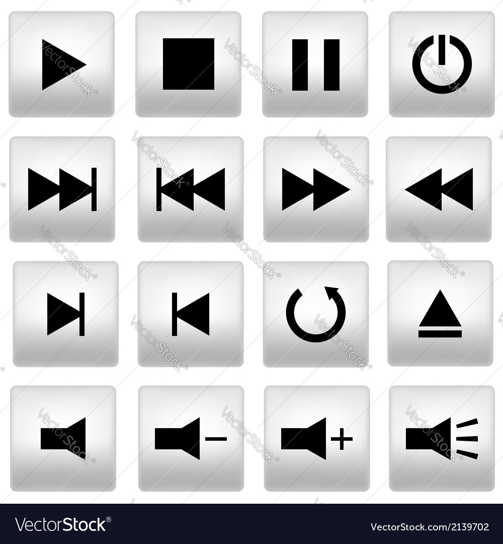 Media player buttons vector | Price: 1 Credit (USD $1)