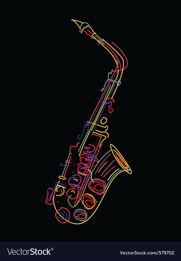 Saxophone background vector | Price: 1 Credit (USD $1)