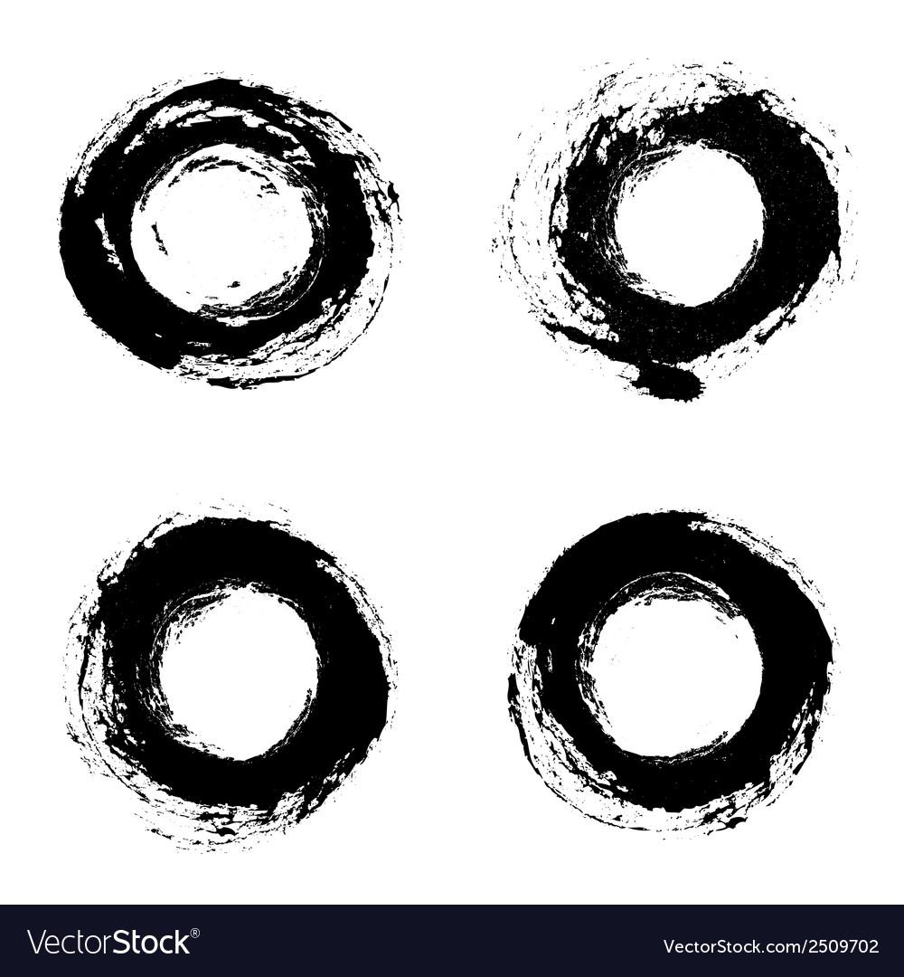 Set of round grunge frames vector | Price: 1 Credit (USD $1)